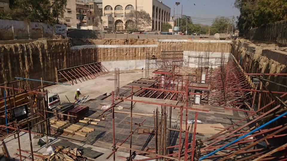 صدر کے مرکزی علائقے میں زیر تعمیر  انڈرگراؤنڈ پارکنگ پلازہ کے سیکشن 3 اور 4 کا کام جاری ہے۔
