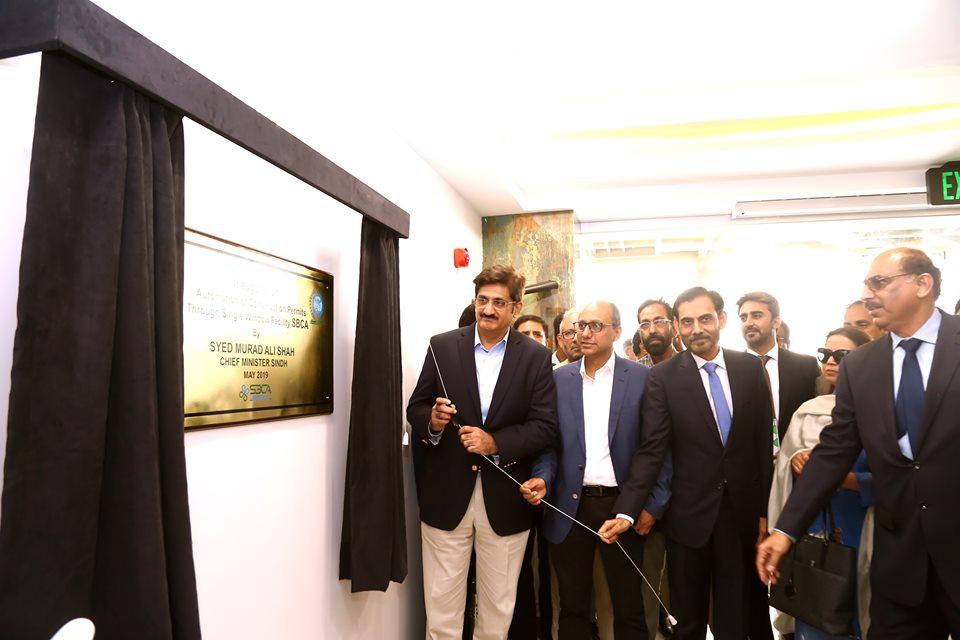 سندھ بلڈنگ کنٹرول اتھارٹی کی عمارت  سازی کی لئے  اجازت ناموں کی سہولت کے لیے کراچی نیبر ھوڈ امپروومینٹ پروجیکٹ کی جانب سے قائم کردہ سنگل ونڈو فیسلٹی کا افتتاح کیا گیا۔