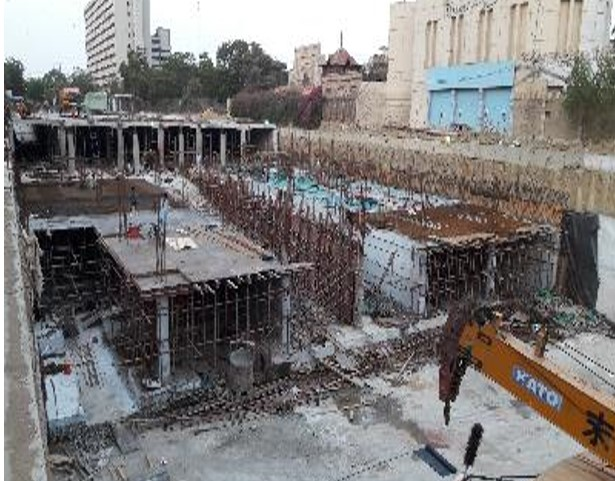 1st level slab ( partial) for portion 07 is in process at Underground parking plaza