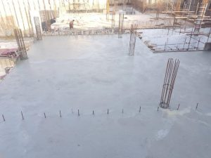 Concrete pouring , section 03 level 1 slab underground parking plaza