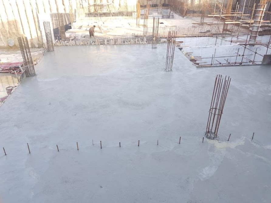 Read more about the article Concrete pouring , section 03 level 1 slab underground parking plaza