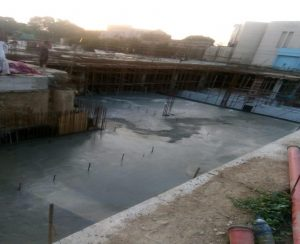 Concrete pouring , section 07 level 1 slab underground parking plaza