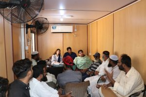 """""""An initial meeting was held on October 2nd 2019, with the members of  NCs Korangi for the formation of NCs""""."""