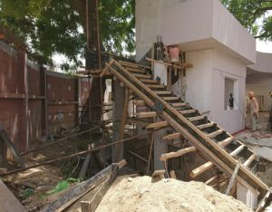 Read more about the article Preparation of Staircase for cafeteria at arts council is underway.
