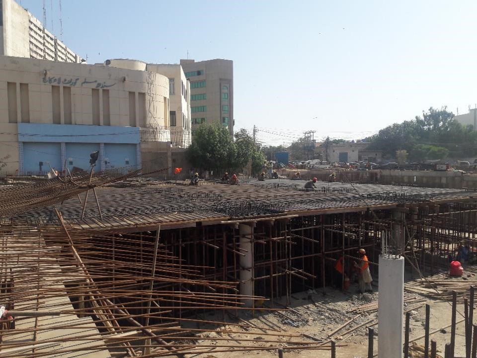You are currently viewing Reinforcement of top slab section 03 Underground Parking Plaza is under installation