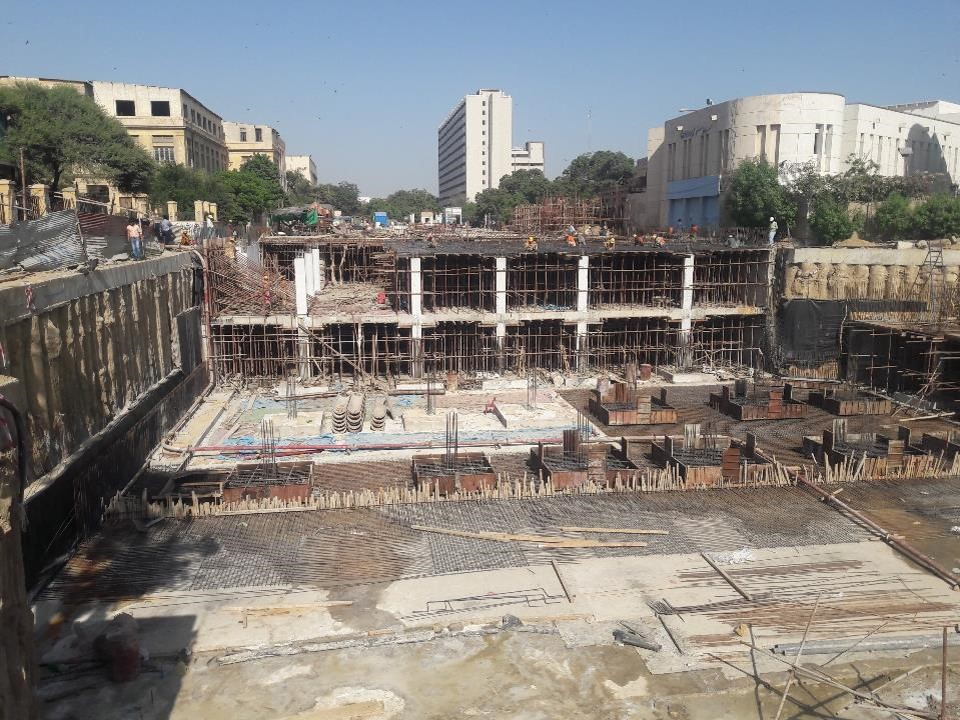 Foundation section 08 (partial) Underground Parking Plaza are under preparation