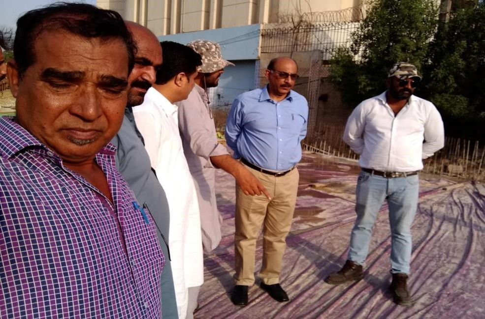 Project Director PIU KNIP Visited Saddar Site