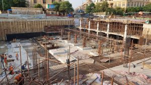 Reinforcement  of top slab at section 07, column scaffolding at section 08 partial,  foundation activity at section 08 partial and PCC wall preparation are underway at UGPP