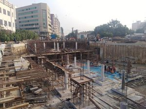 Scaffolding of middle slab section 08 and 04 ( partial) are underway at UGPP