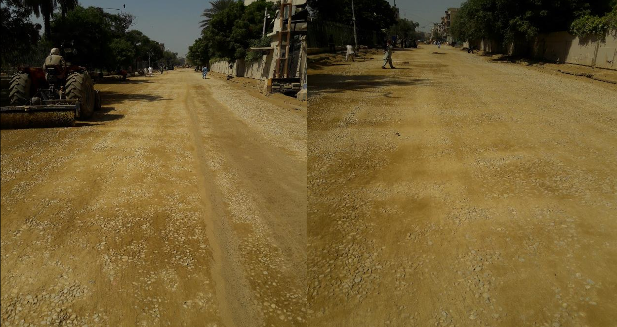 You are currently viewing Final layer of base coarse at Deen Mohammad wafai Road from Sindh Secretariat to Arts Council Chowrangi