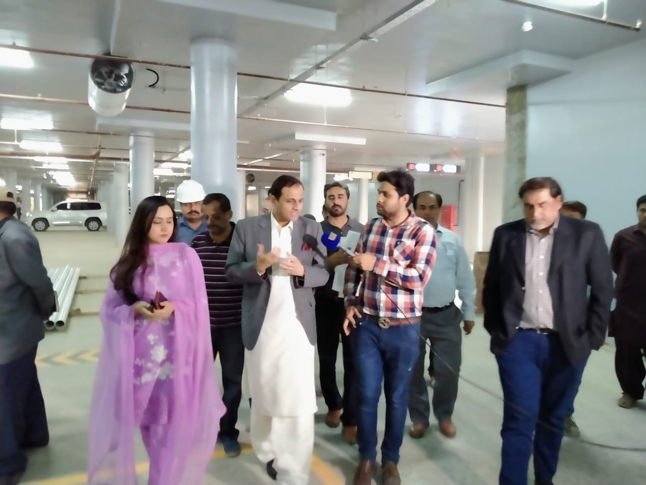 Mr. Murtaza Wahab, Advisor to Honorable Chief Minister Sindh and Spokesperson for the Sindh Government visited The Underground Parking Plaza Site in Saddar Area to review the progress of KNIP Intervention