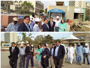 KNIP Project Director, Mr. Asghar Memon visited the Underground Parking Plaza Construction Site to review the progress of development.