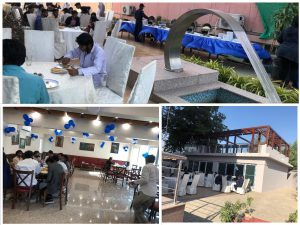 "Recently completed sub -project of ""Rehabilitation of Public Spaces in Arts Council Pakistan"" under KNIP Component 1 of enhancing public spaces in selected neighborhoods of Karachi is being used for public gatherings in Arts Council."