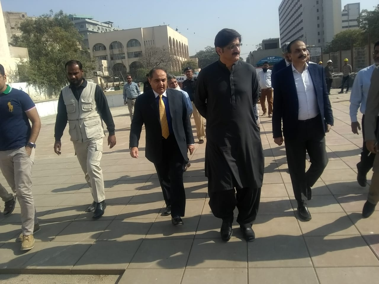 Chief Minister Sindh, Syed Murad Ali Shah visited Underground Parking Plaza.