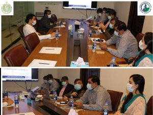 Detailed briefing on the components and sub-projects of KNIP intervention was discussed in the meeting.