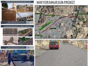 Road development work