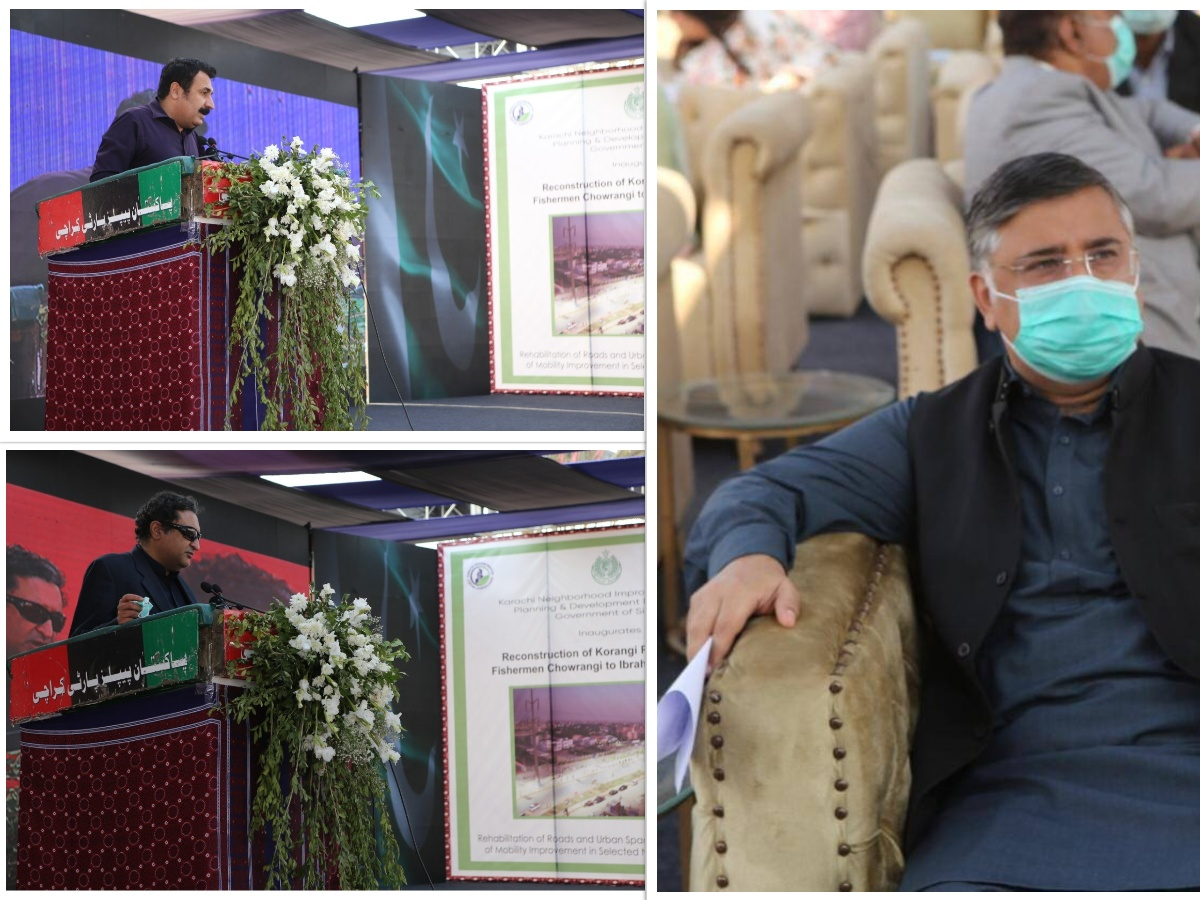 Inauguration Ceremony of Rehabilitation and Reconstruction of Fishermen Chowrangi and Road 9000 in Korangi.